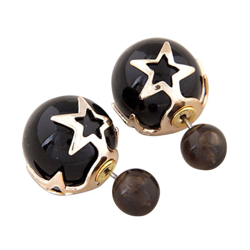 Fashionista KE37548 Dior Star Shape Black Anting
