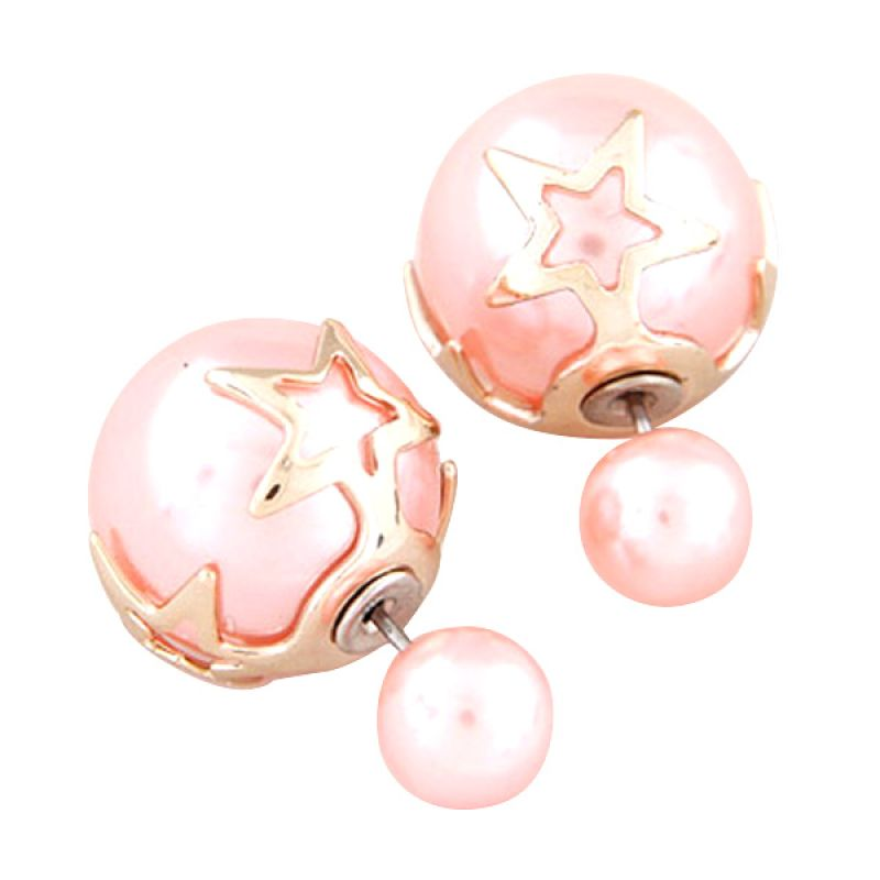 Fashionista KE37549 Dior Star Shape Pink Anting