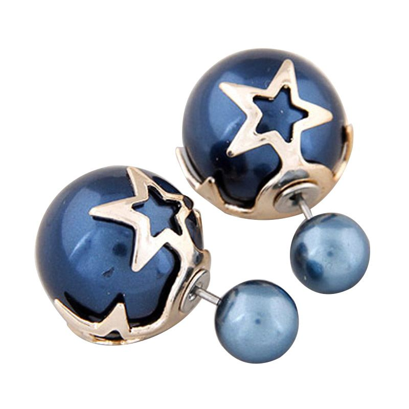 Fashionista KE37553 Dior Star Shape Dark Blue Anting