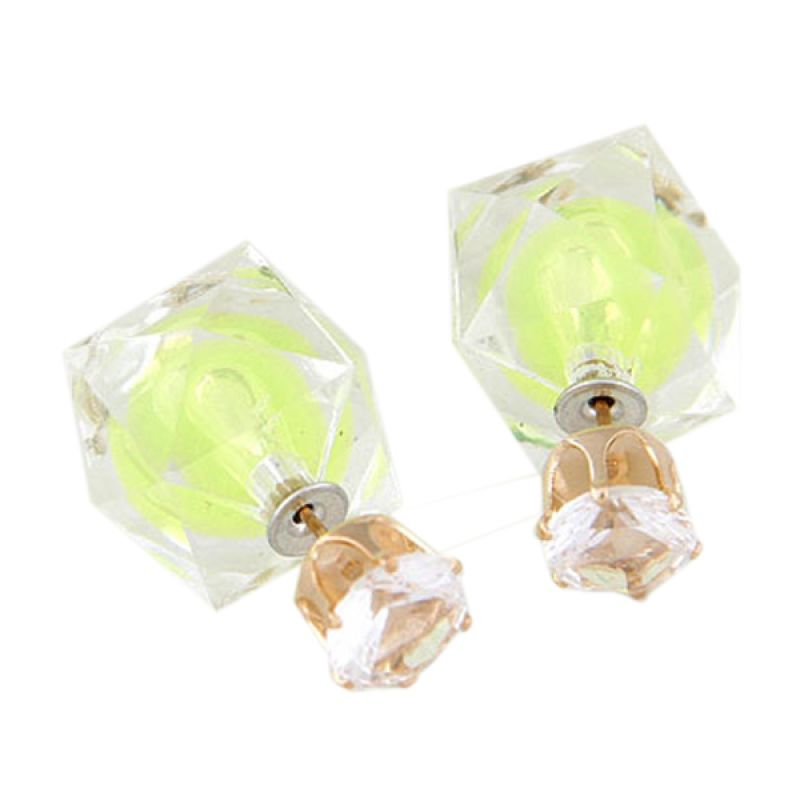 Fashionista KE38624 Dior Electric Light Yellow Anting