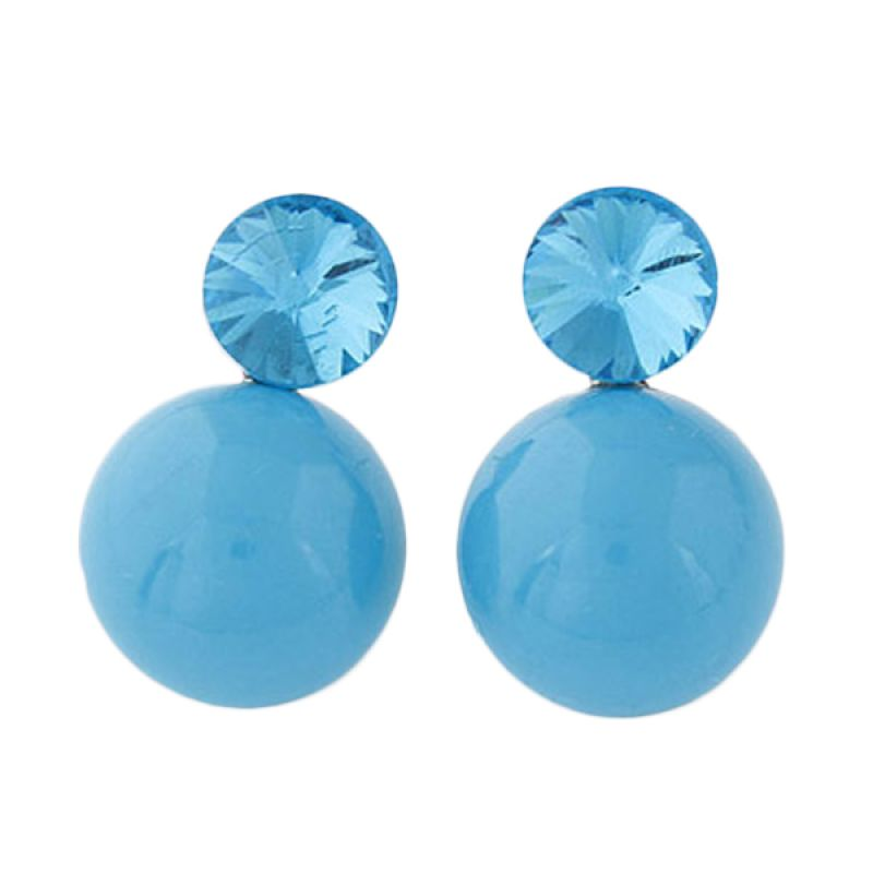 Fashionista KE38631 Gemstone Round Blue Anting