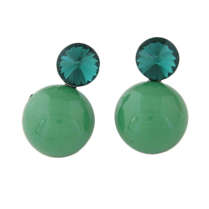 Fashionista KE38633 Gemstone Round Green Anting
