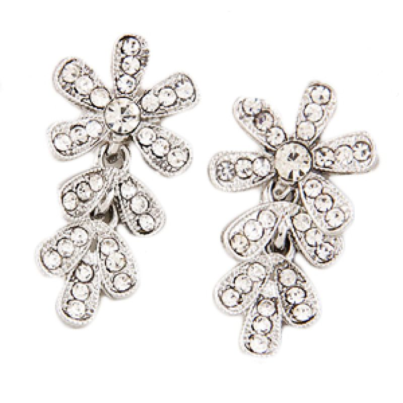Fashionista KE39107 Korea Flower Silver Anting