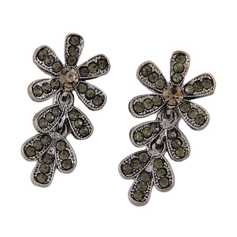 Fashionista KE39109 Korea Flower Black Gun Anting