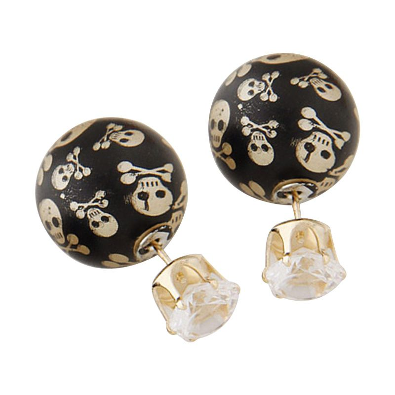 Fashionista Dior Skull KE39718 Gold Anting