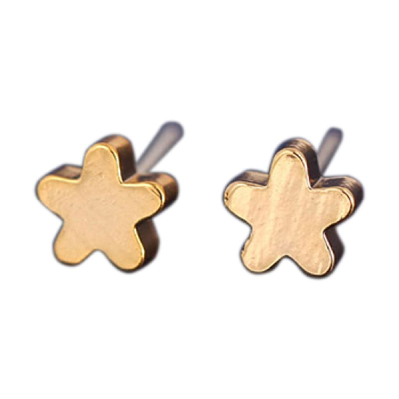Fashionista Korea Flower KE40032 Gold Anting