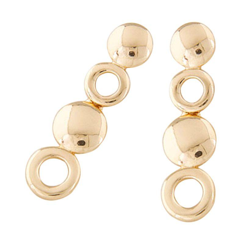 Fashionista Korea Round Ring Shape KE40108 Gold Anting