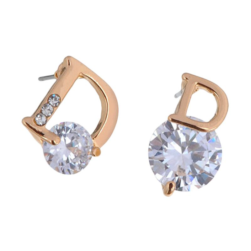 Fashionista KE50142 Korea D Diamond Gold Anting