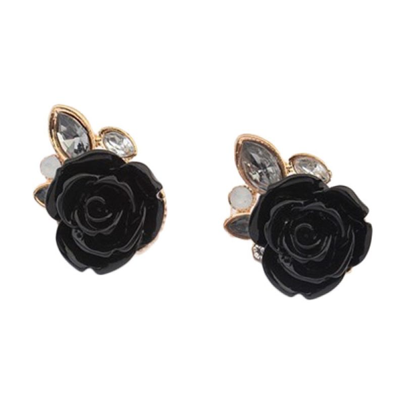 Fashionista KE50205 Korea Rose Black Anting