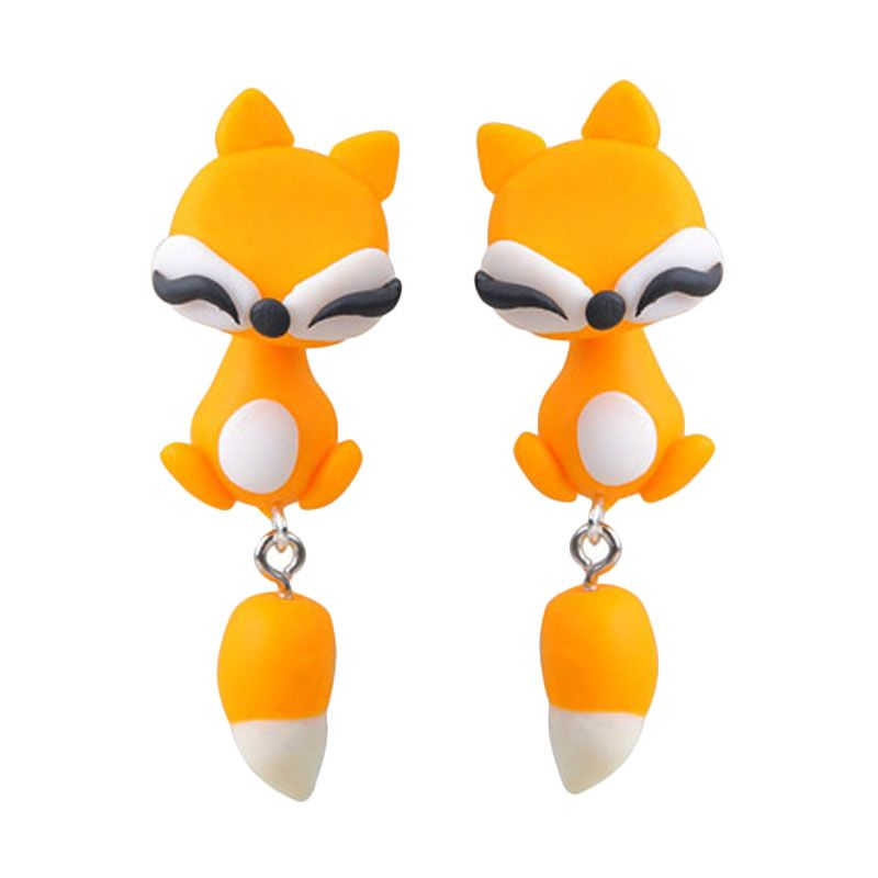 Fashionista Clay Cute Fox KE50758 Orange Anting