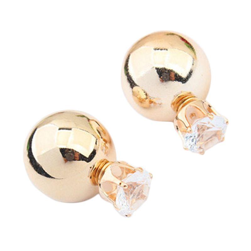 Fashionista KE52919 Korea Dior Crown Pearl Gold Anting