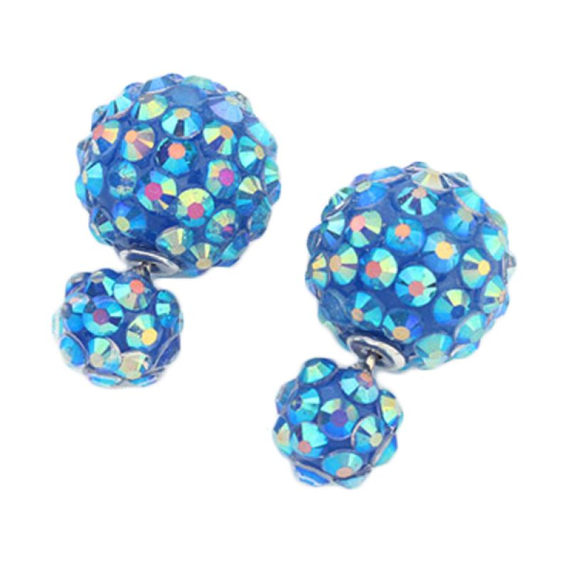 Fashionista KE53215 Korea Dior Stud Blue Anting