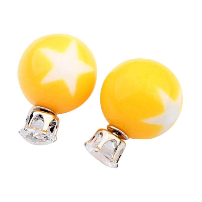 Fashionista KE53782 Dior Star Pattern Yellow Anting