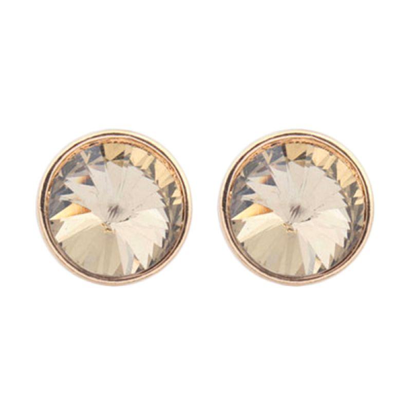 Fashionista Korea KE53817 Gold Crystal Anting