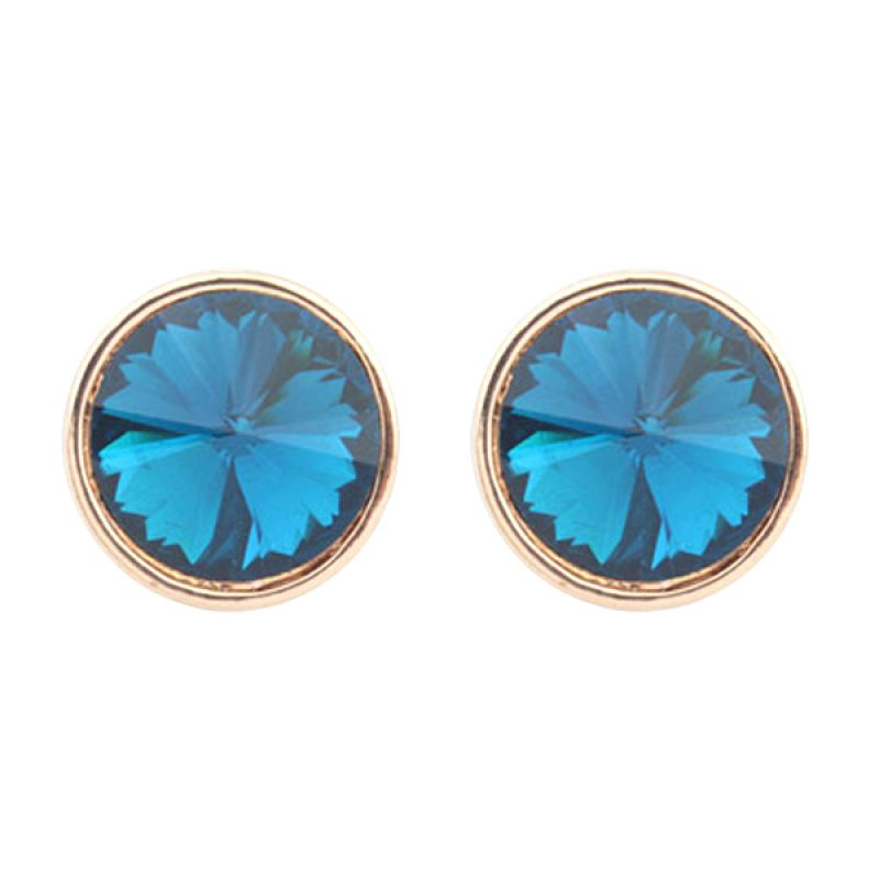 Fashionista Korea KE53819 Crystal Sapphire Blue Anting