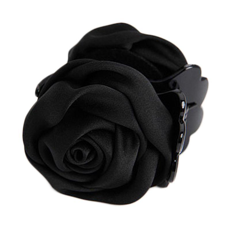 Fashionista Rose KHA17288 Black Jepit Rambut