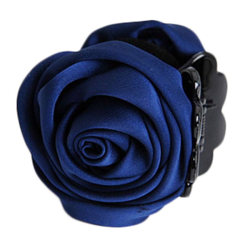 Fashionista KHA17289 Rose Navy Blue Hairclip