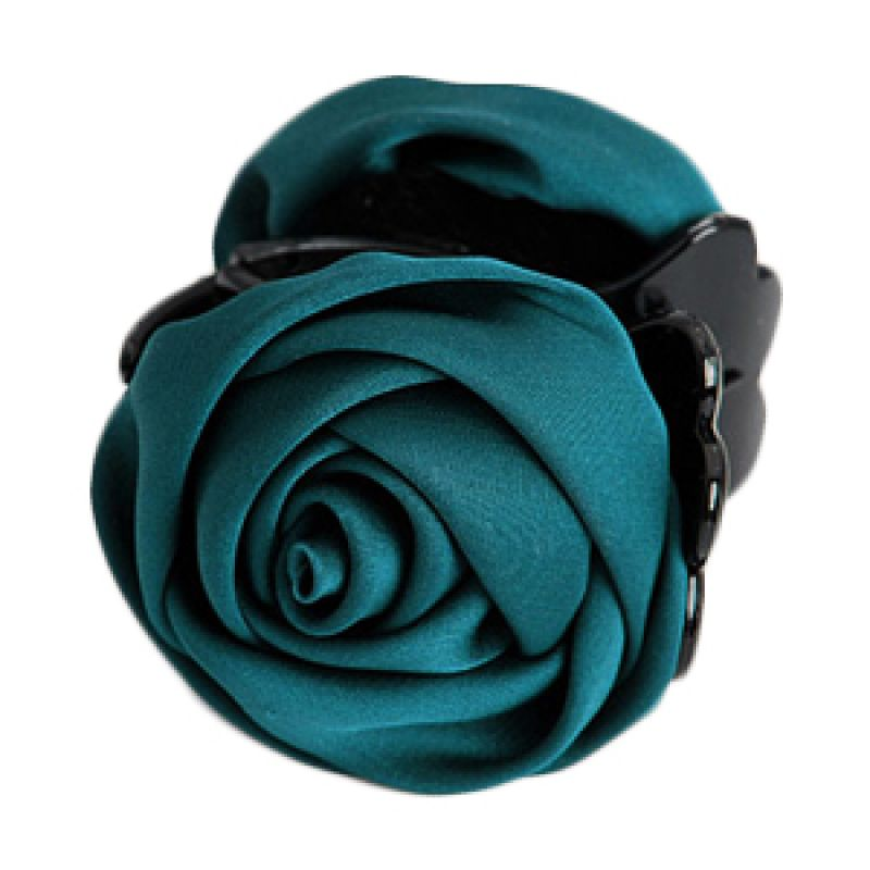 Fashionista KHA17290 Rose Dark Green Hairclip