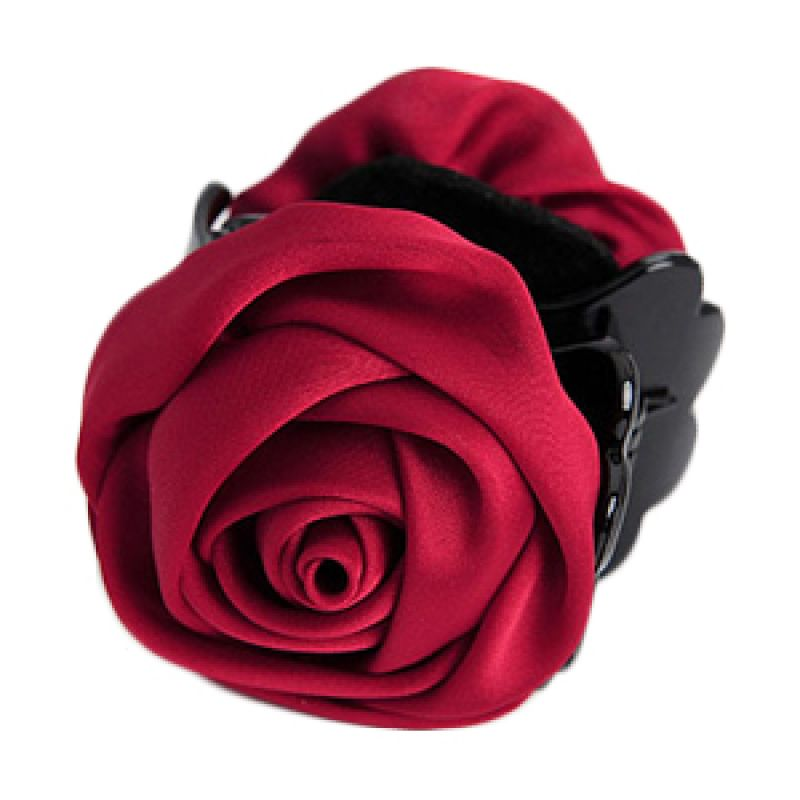 Fashionista KHA17292 Rose Claret Red Hairclip