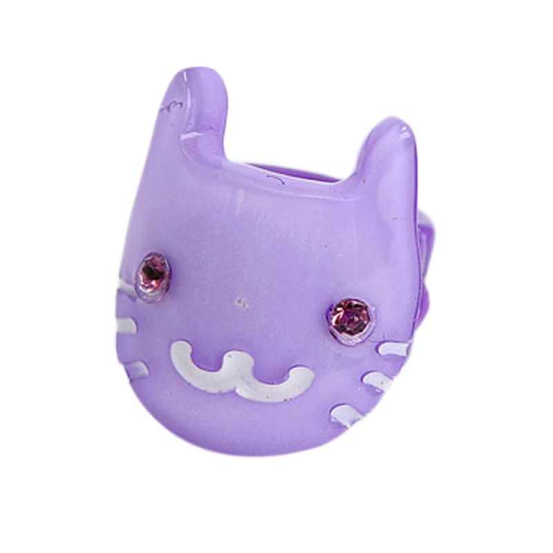 Fashionista KHA17329 Cat Purple Hairclip