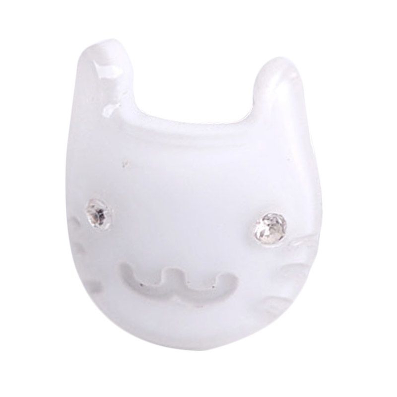Fashionista KHA17384 Cat White Hairclip