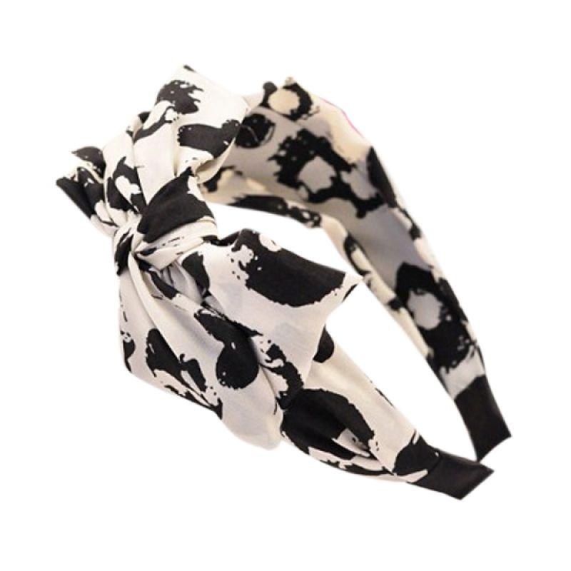 Fashionista KHA34998 Korea Bowknot Black White Bando