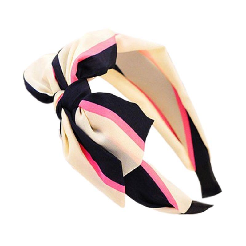 Fashionista KHA34999 Korea Bowknot Beige Stripe Bando