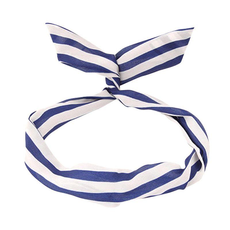Fashionista Korea Rabbit Ears Stripe KHA39821 Blue Hairhoop Bandana