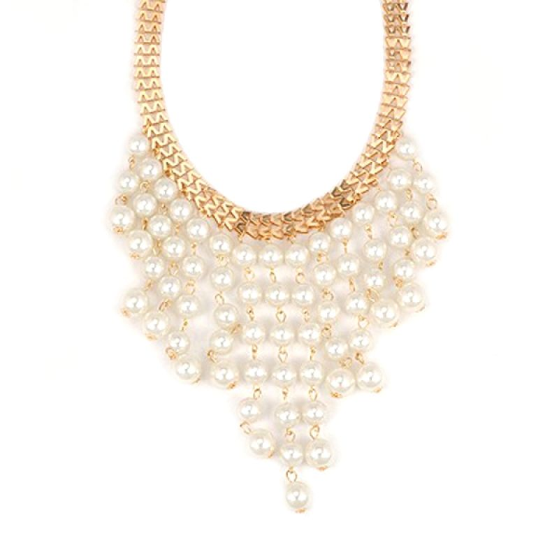 Fashionista KN11673 Korea Pearls White Kalung