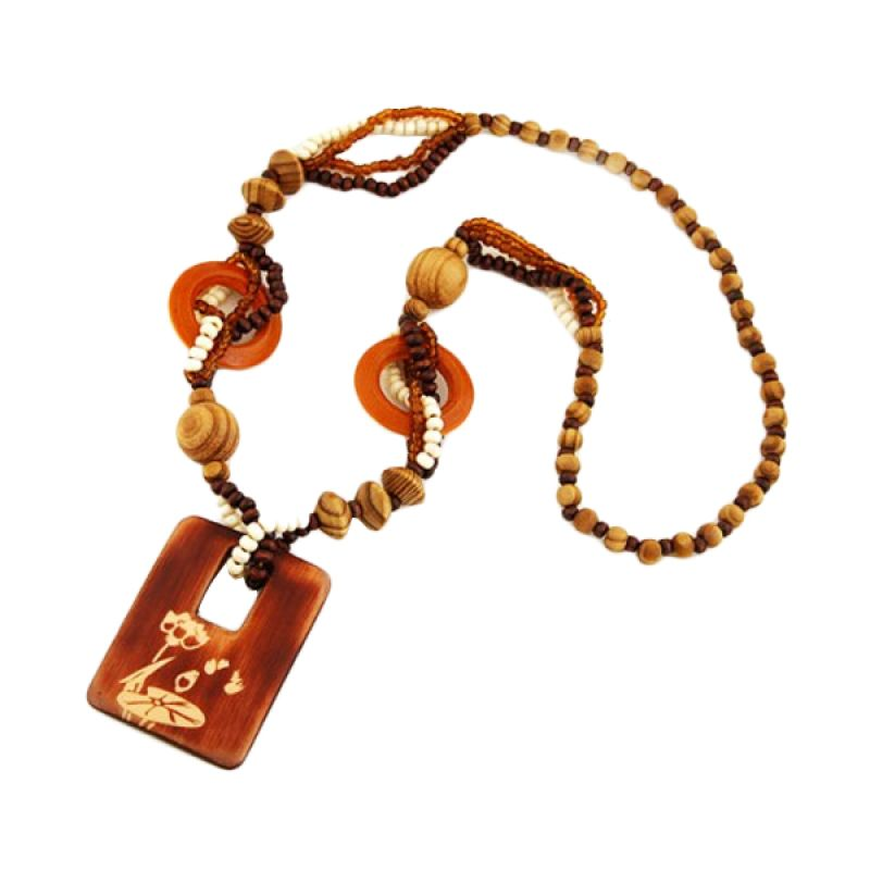 Fashionista KN33395 Bohemian Wood Brown Kalung