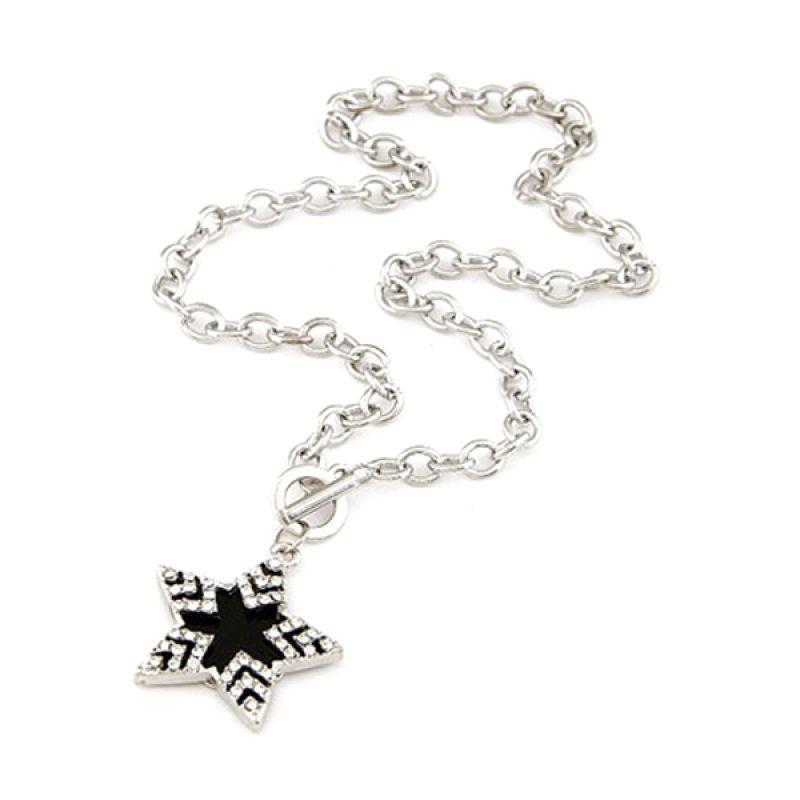 Fashionista KN35488 Korea Chain Star Kalung Silver