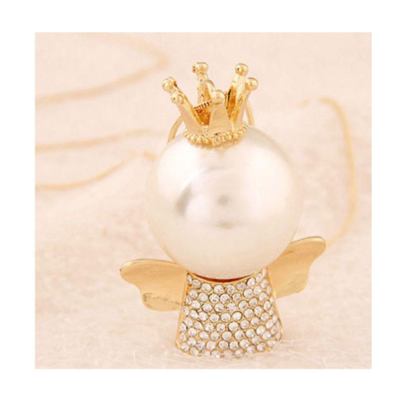 Fashionista KN37364 Korea Angel Pearl Gold Kalung