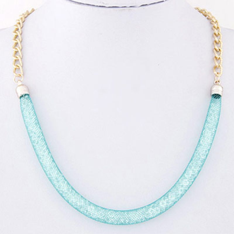 Fashionista KN38131 Korea Chain Blue Gold Kalung