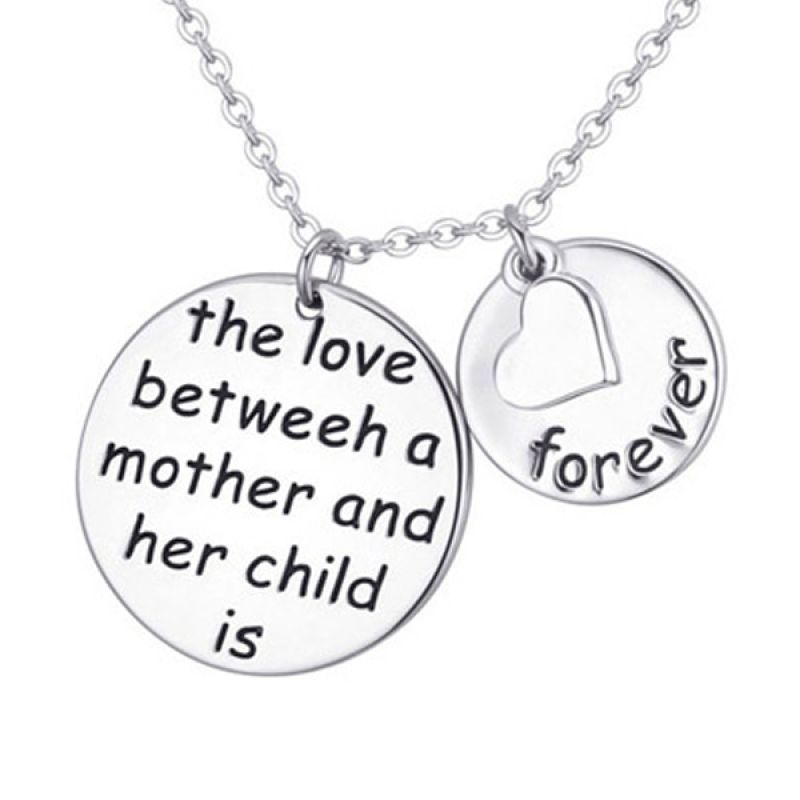 Fashionista KN38813 Korea Love Mother Silver Kalung