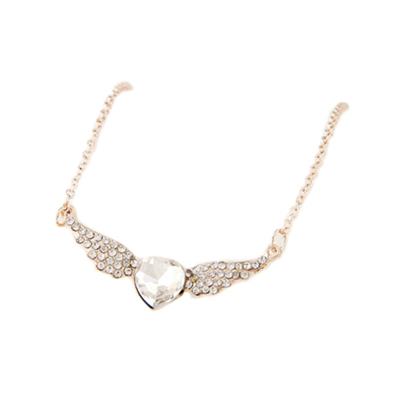 Fashionista Korea Wings Heart Diamond KN39649 Kalung