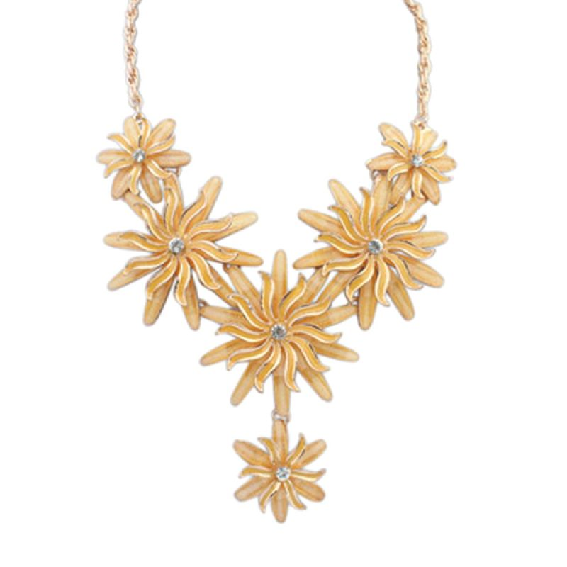 Fashionista KN53193 Korea American Flower Yellow Kalung