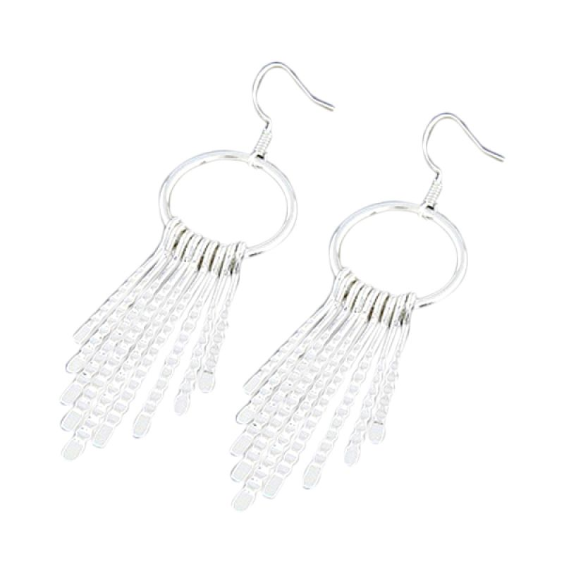 Fashionista KE33510 Korea Celebrity Silver Metal Anting