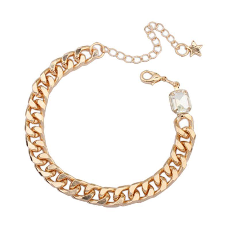 Fashionista Korea Diamond Oval KB54465 White Gelang Wanita