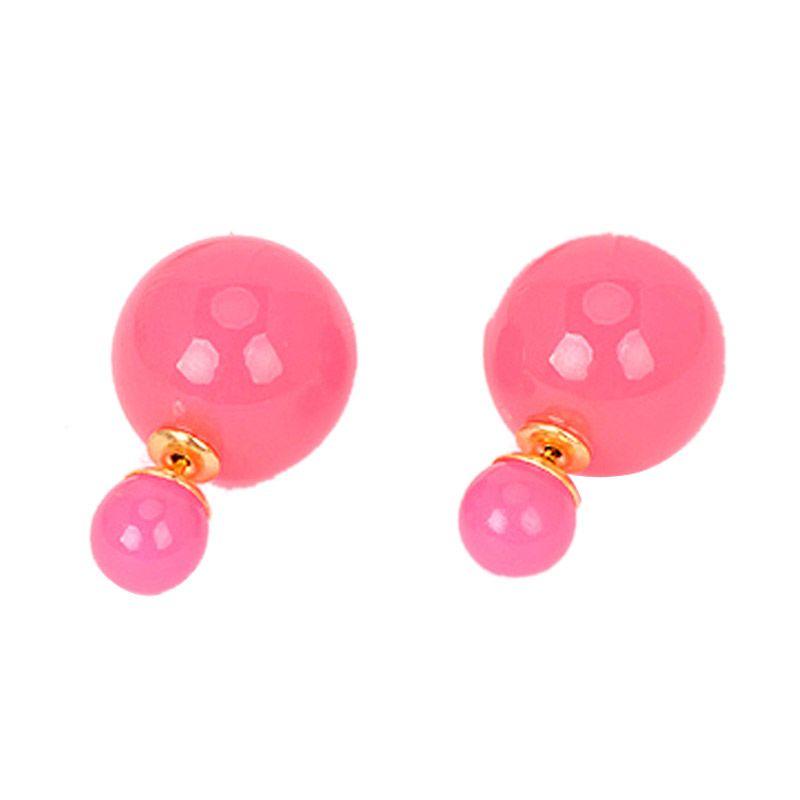 Fashionista Korea Dior Baby KE12589 Pink Anting