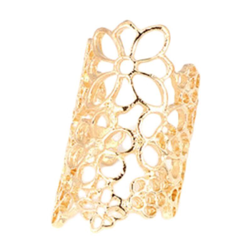 Fashionista Korea Hollow Out Flower KR08244 Gold Cincin