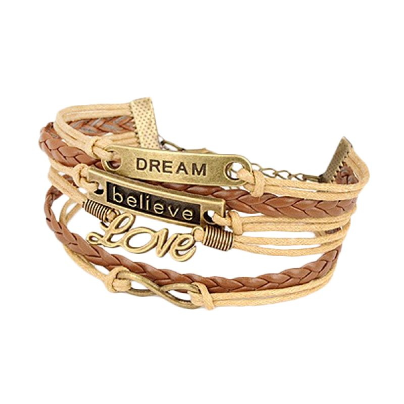 Fashionista Korea Believe and Love KB11317 Gelang