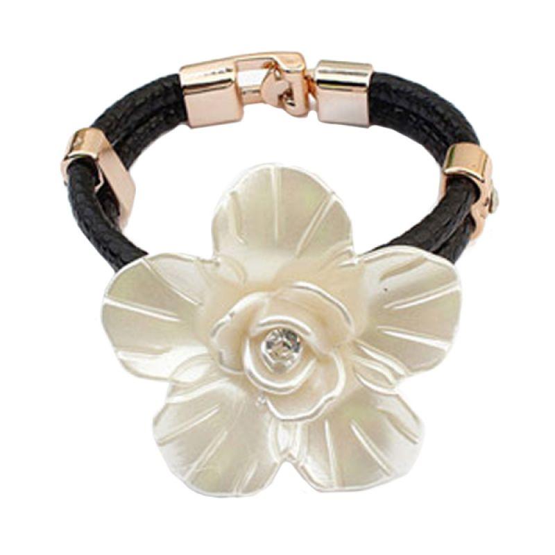 Fashionista Korea KB54063 Flower Black Gelang