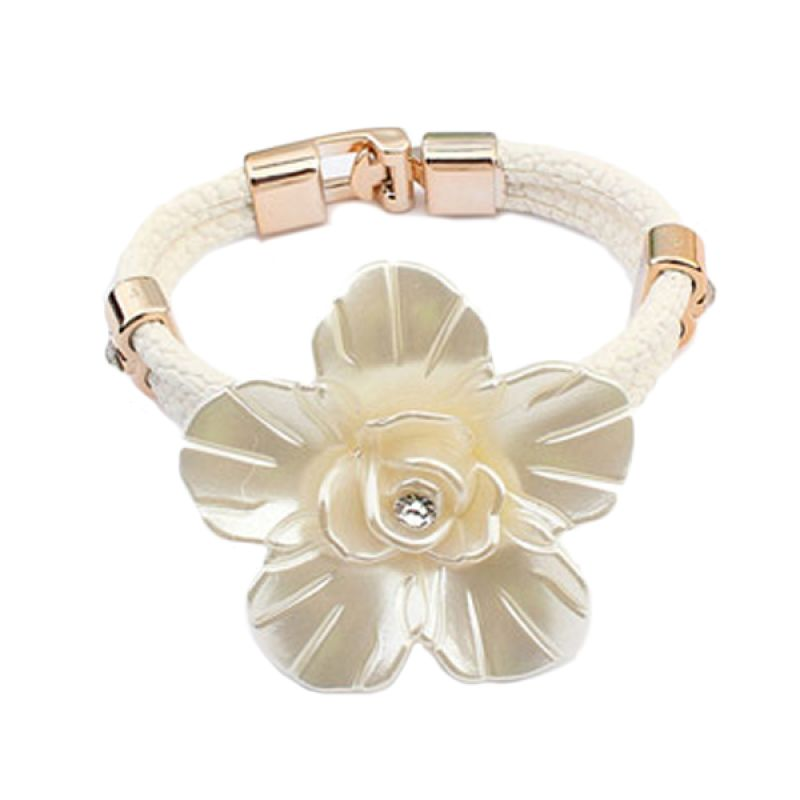 Fashionista Korea KB54066 Flower White Gelang