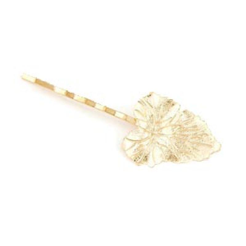Fashionista Korea KHA35404 Large Leaf Gold Jepit Rambut