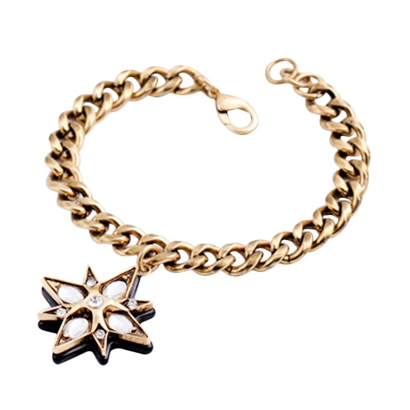 Fashionista Korea Retro Star KB50685 Bronze Gelang
