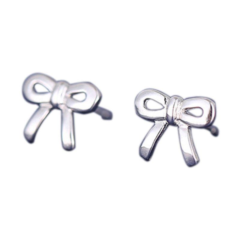 Fashionista Korea Ribbon KE40017 Silver Anting