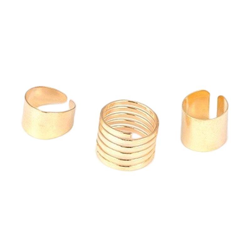 Fashionista Korea Set KR10451 Gold Cincin Wanita