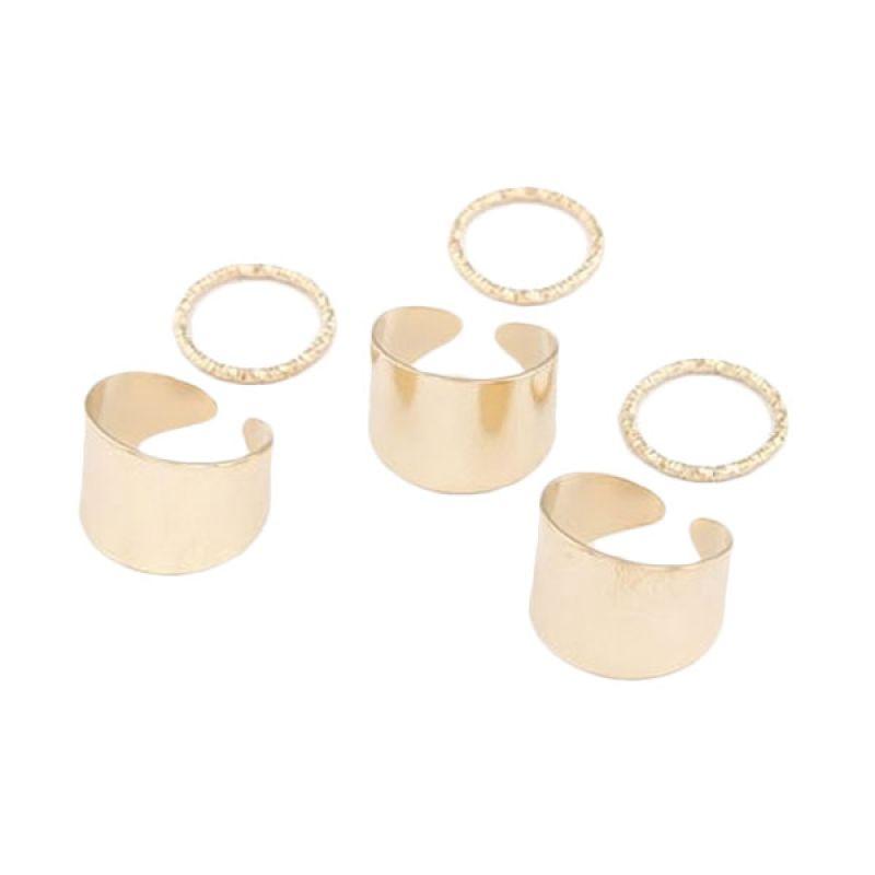 Fashionista Korea Set KR31538 Gold Cincin Wanita
