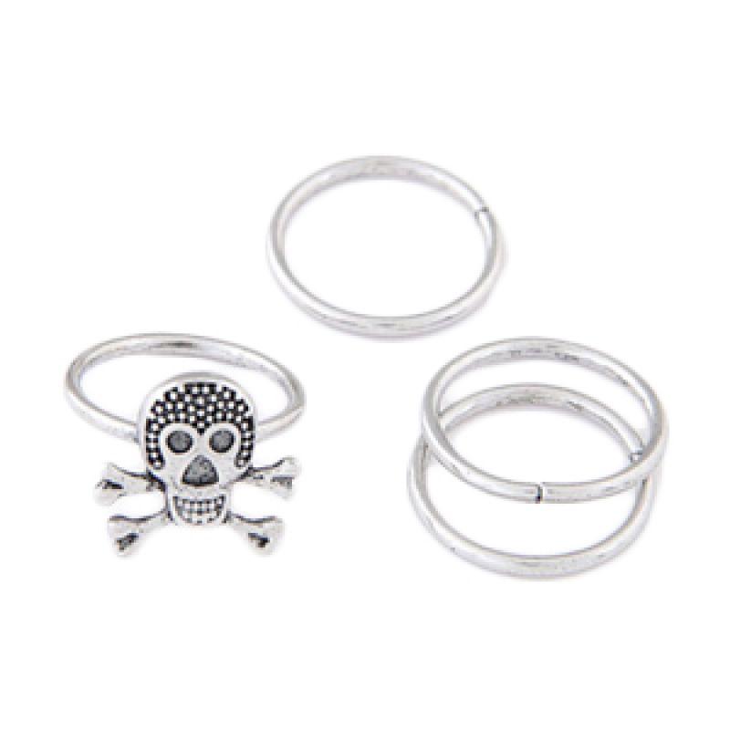 Fashionista Midi Skull KR36869 Silver Cincin