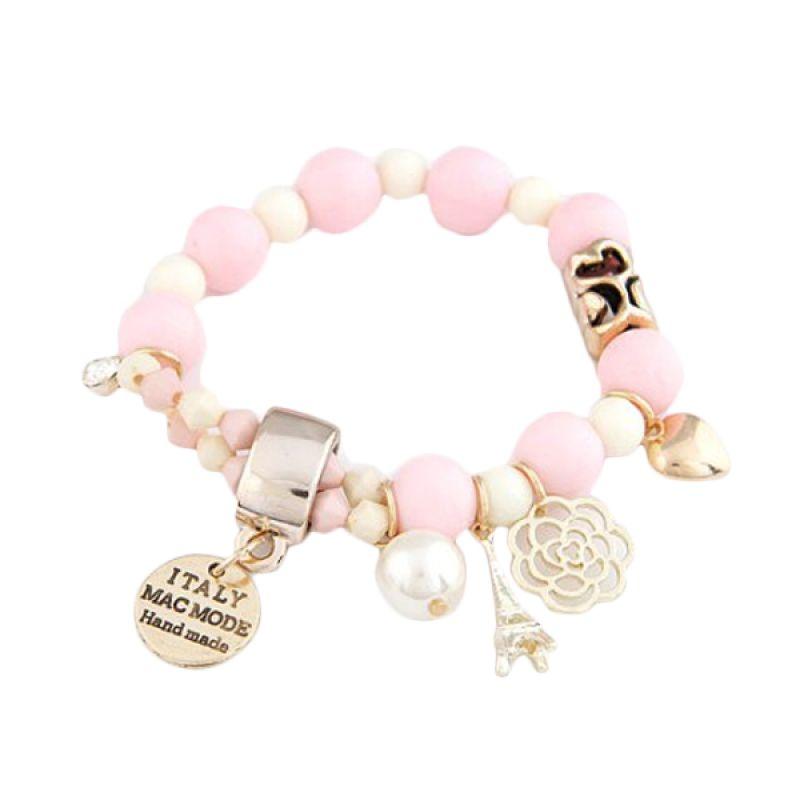 Fashionista Multielement Pendant Design KB33072 Pink Gelang